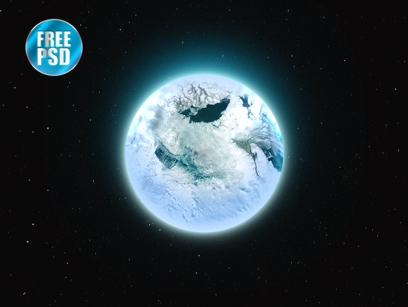 Ice Age Sphere Free PSD-Planet