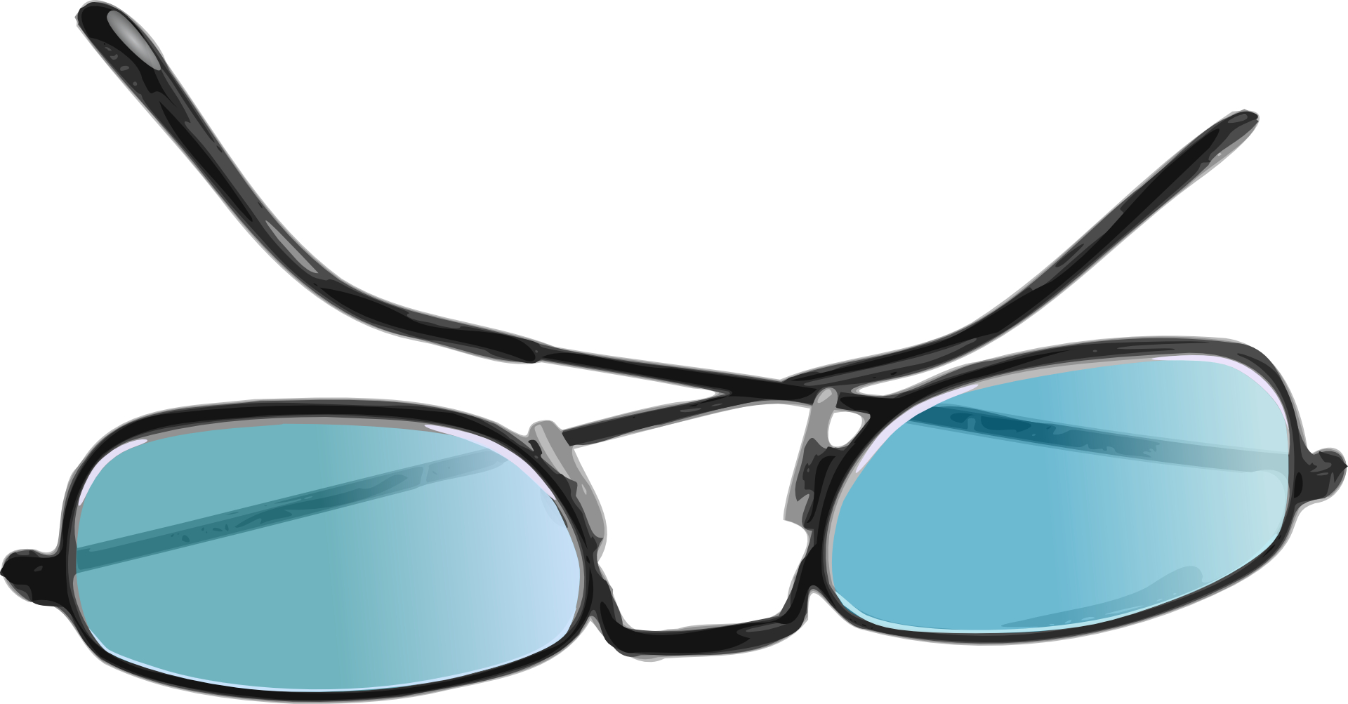 Light blue sunglass,myopic lens vector