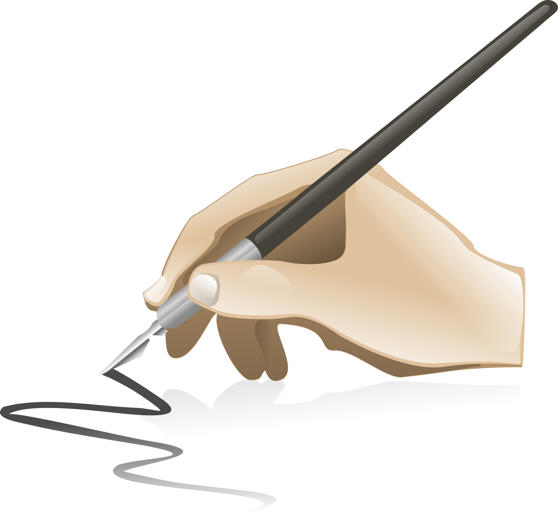 Pen,Hand of calligraphy draw artist vector