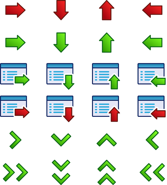 Red Green Arrows free vector