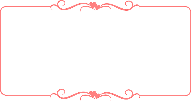 Red certificate frame vector with hearted ribbon