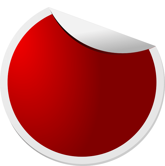 Red circle sticker free vector