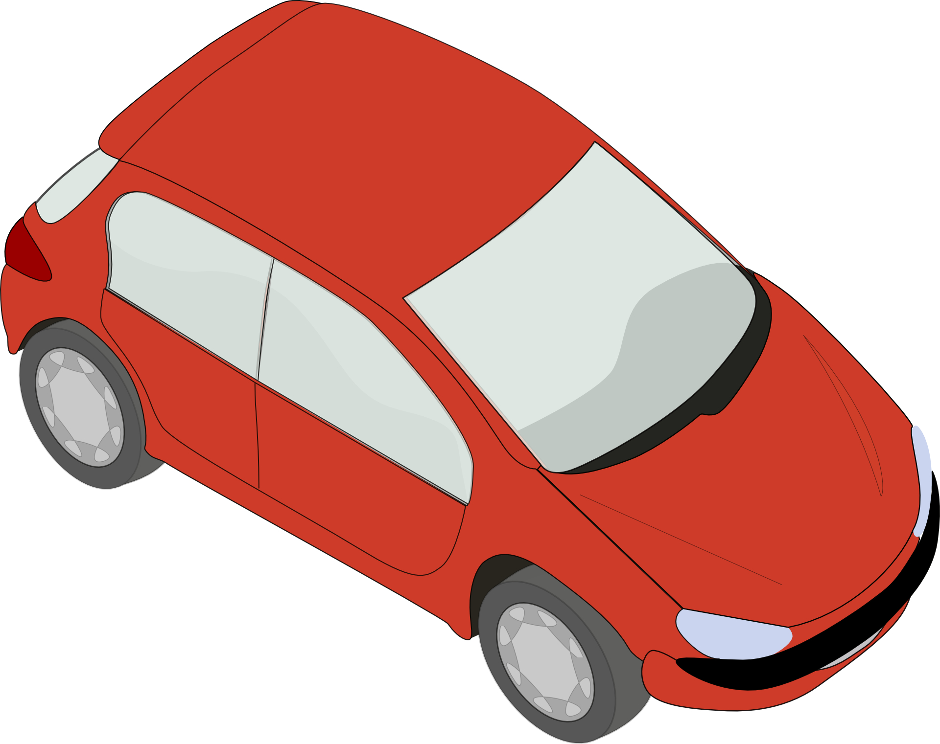 Red peugeot car-vehicle vector