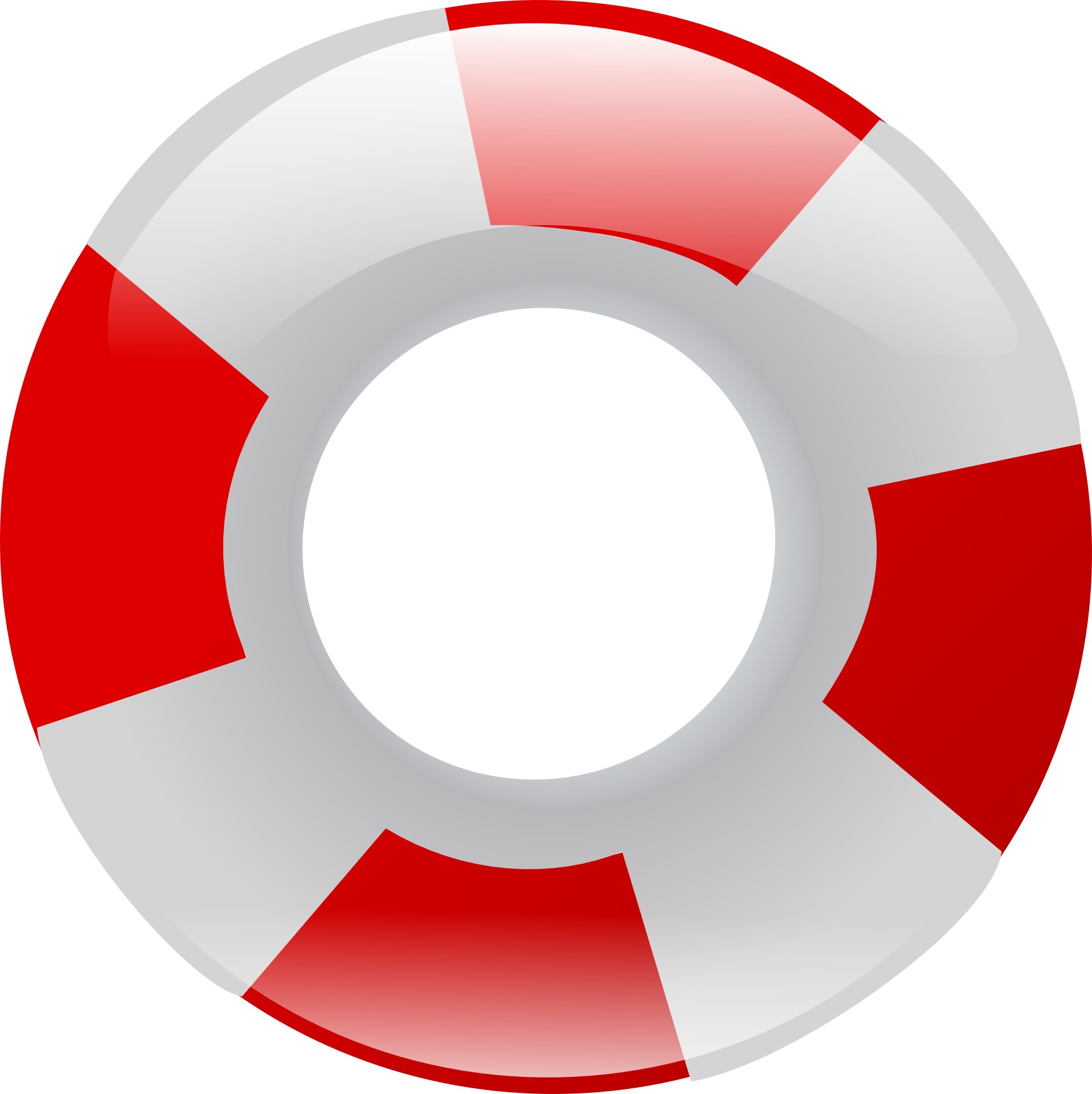 Red white ring life buoy vector