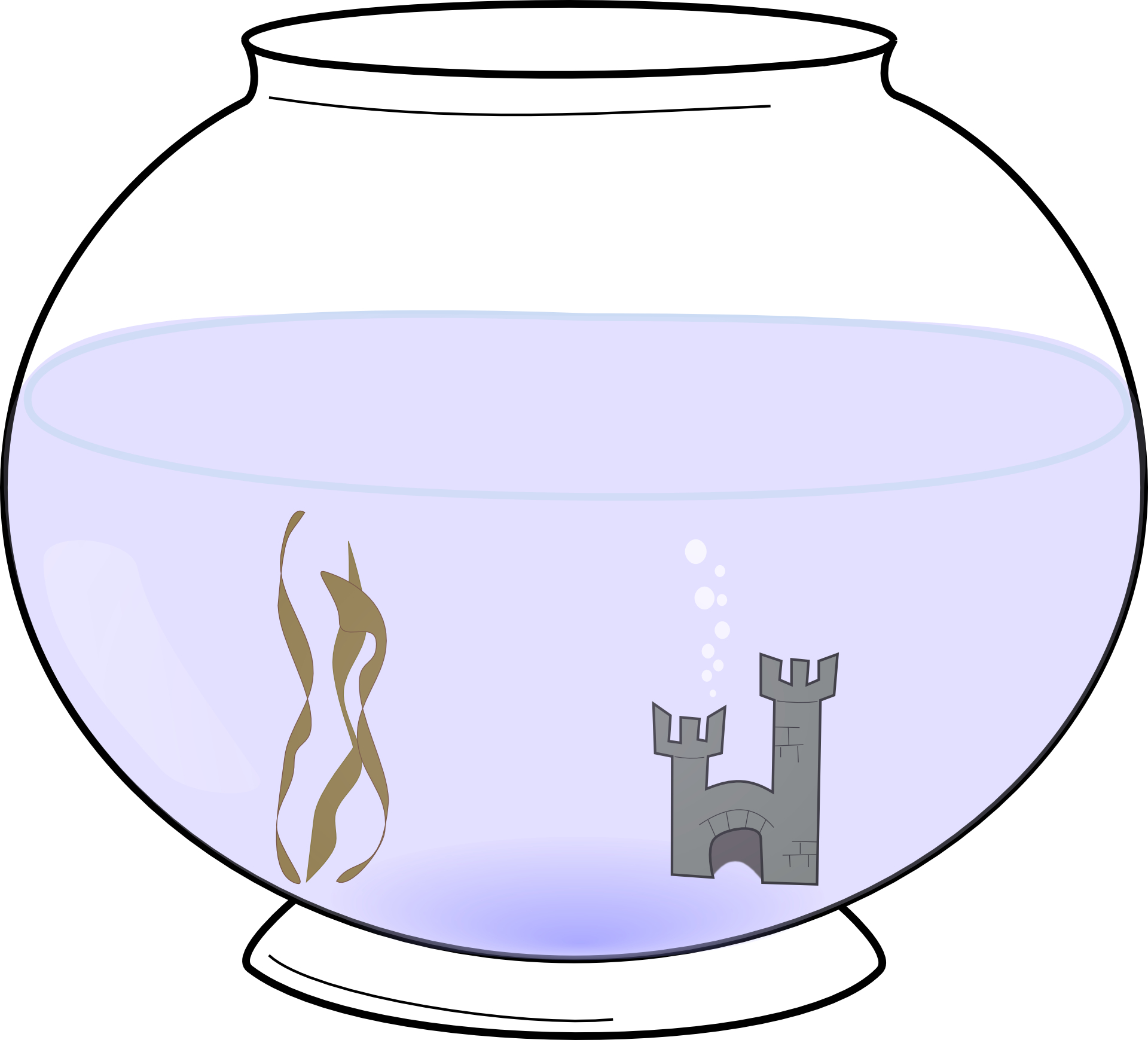 Simple fish tank vector