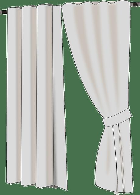Simple house curtains vector
