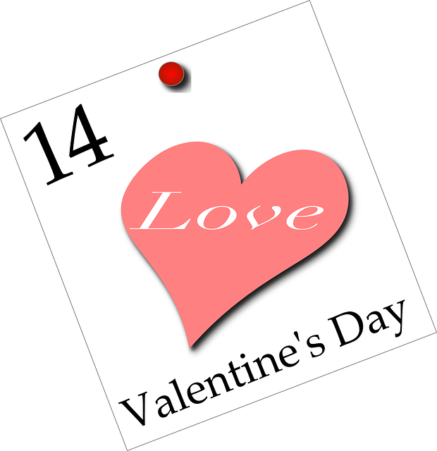 Simple valentine's day-hearted love
