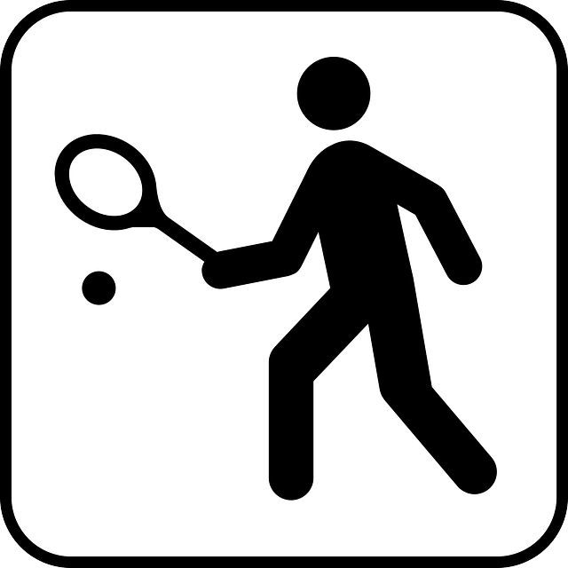Tennis Sports Sign Free Vector