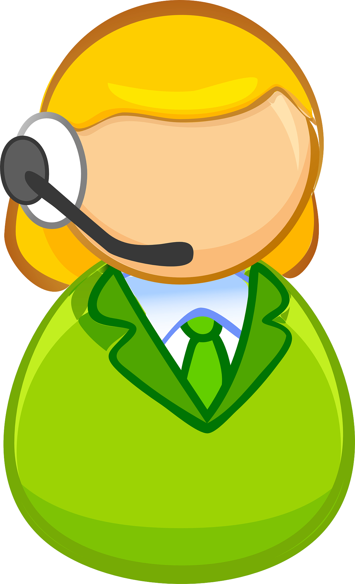 call center -symbol of Customer service agents vector