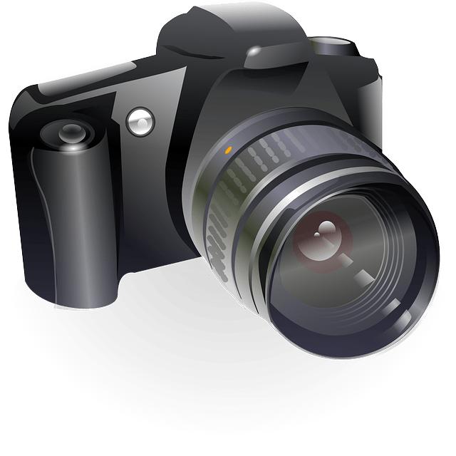 canon slr digital lens camera vector
