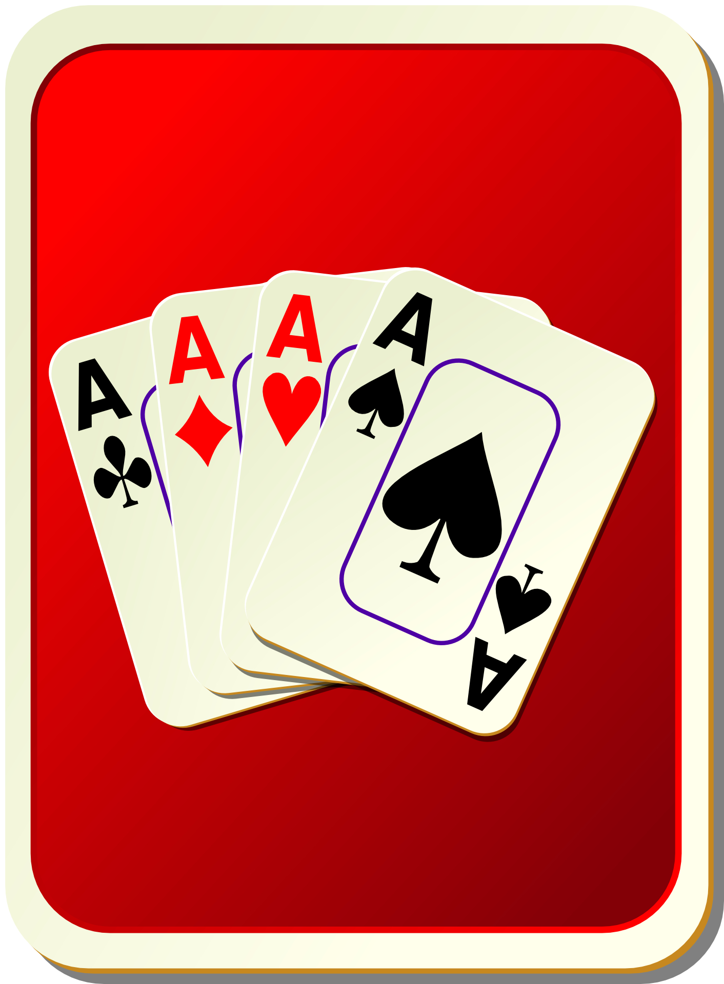 card game,playing card ,Aces vector