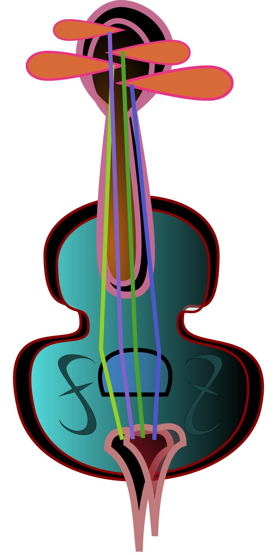 cartoon,musical instrument,violin vector