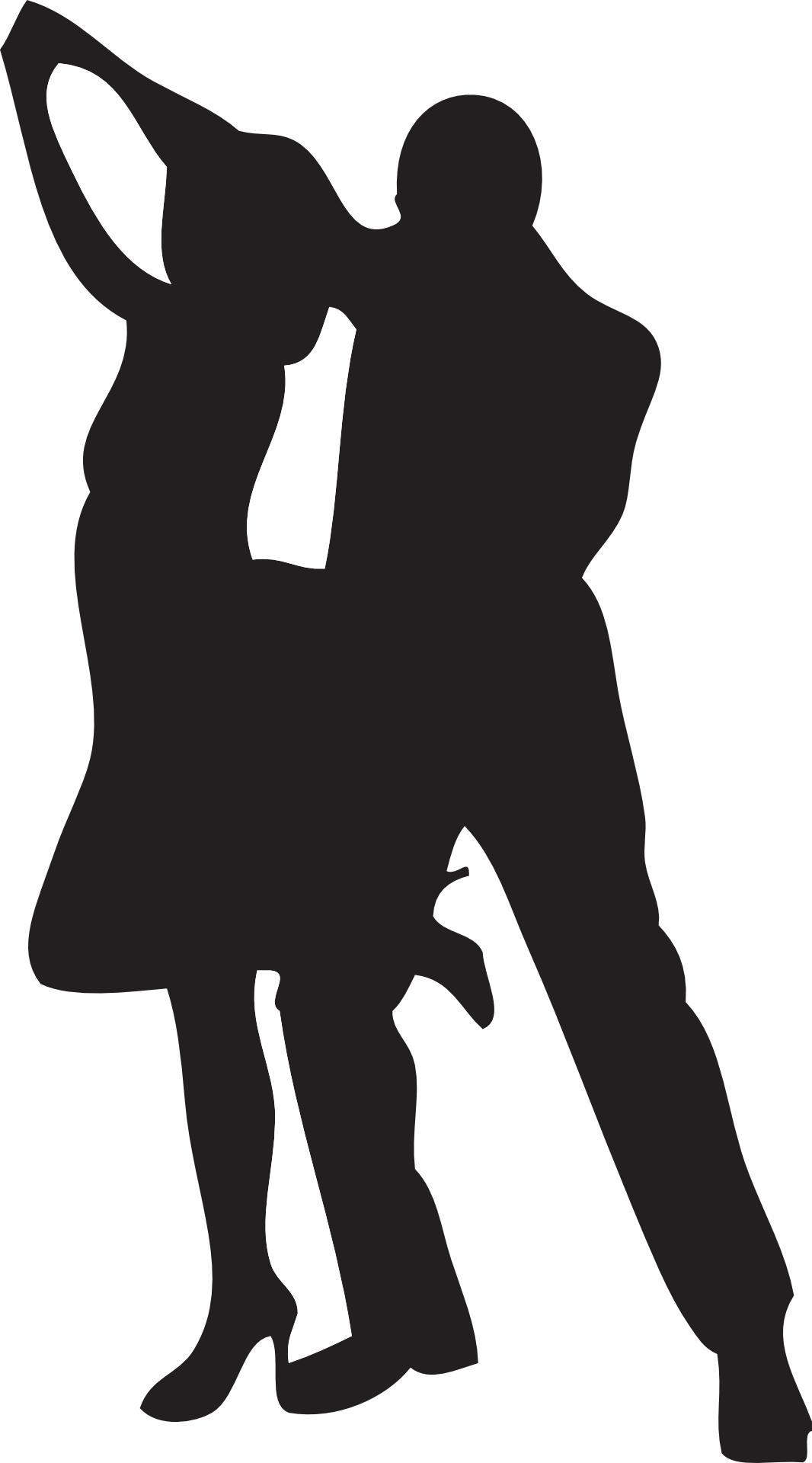 fantastic dance silhouette vector