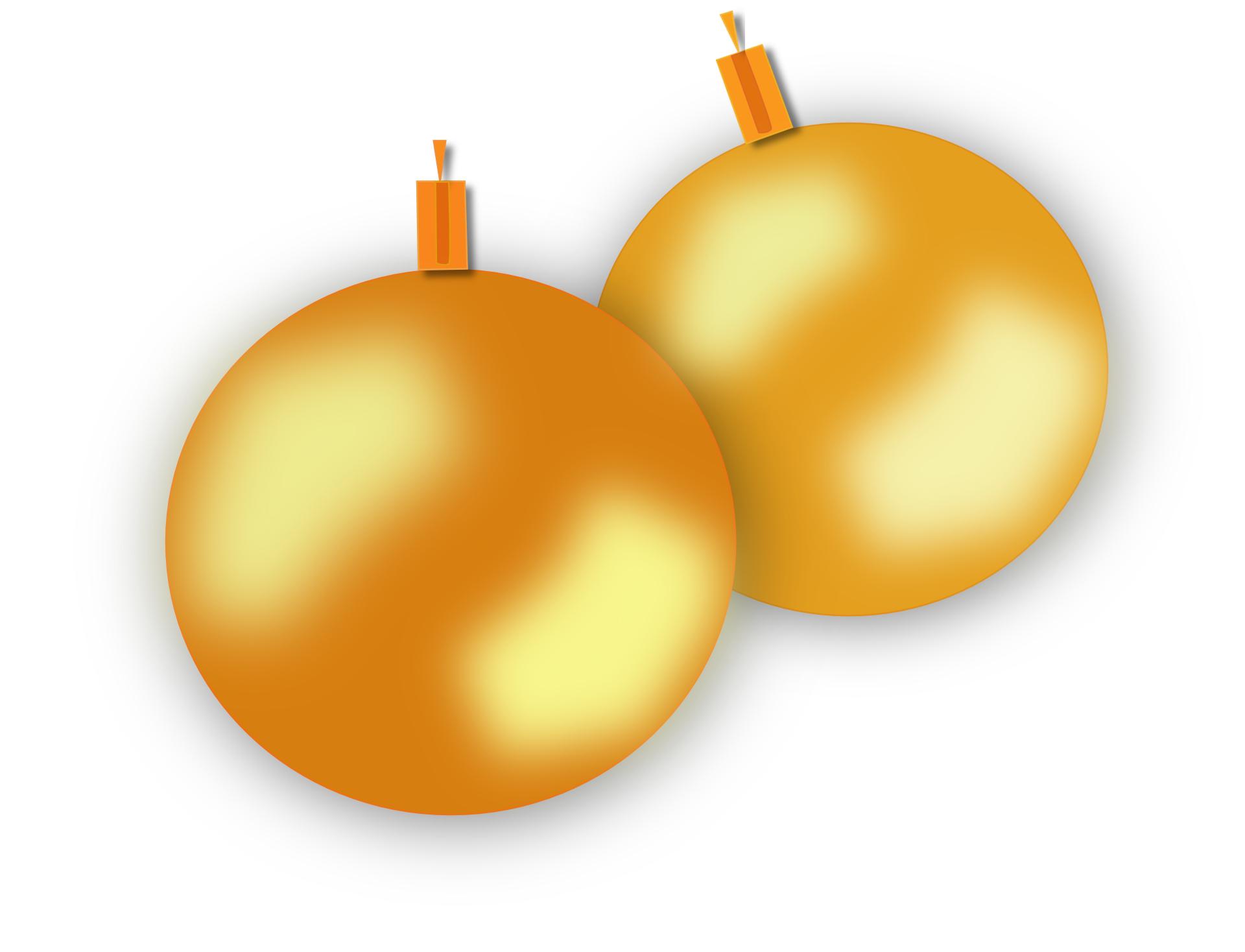 gold christmas balls-ornaments- ball vector