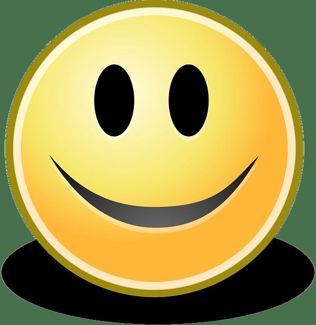 happy smile cartoon face vector