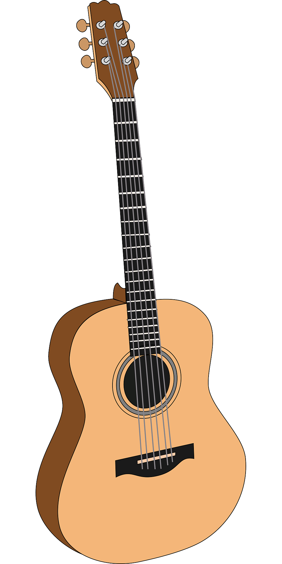 musical instrument,brown guitar vector