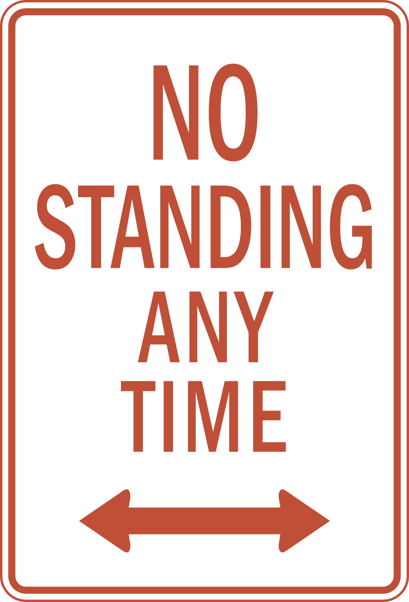 no standing any time,sign vector