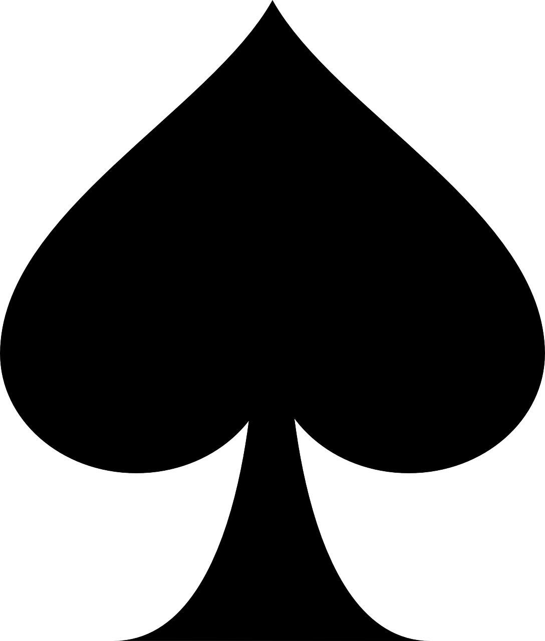 poker,Spade vector