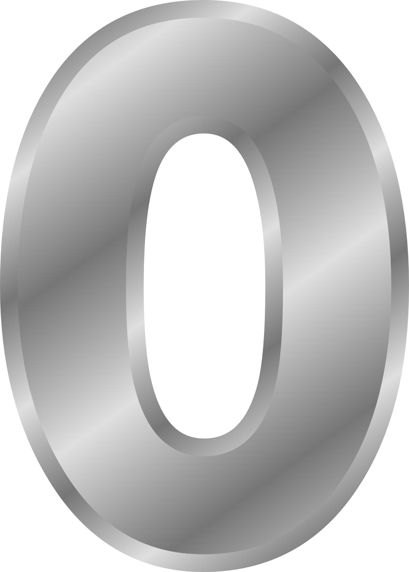 silver effect,number zero,letters ,alphabet vector