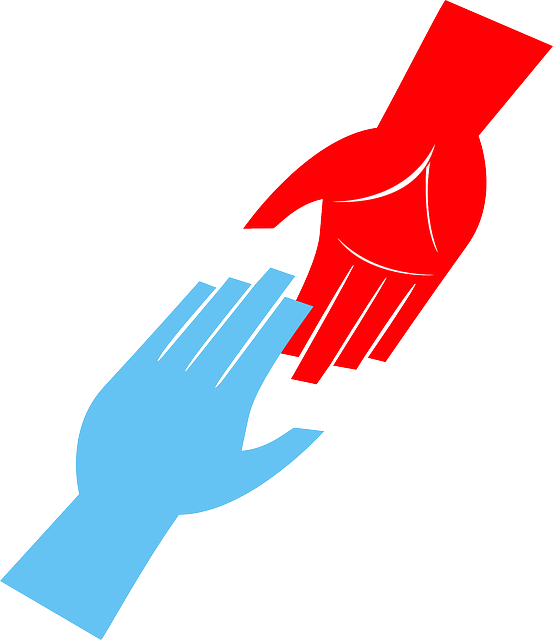 Symbol that people help each other
