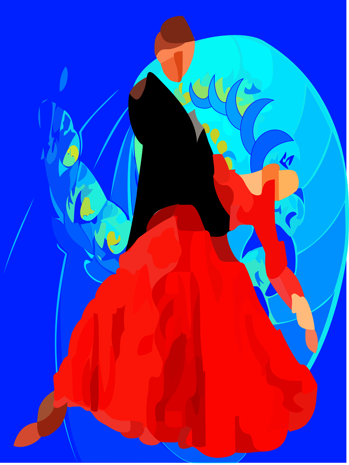 tango dancing,drawing vector