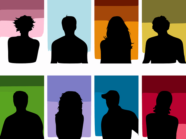 vector people men woman silhouette