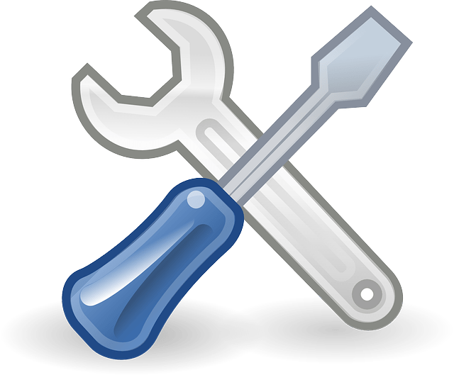 wrench screwdriver tools vector