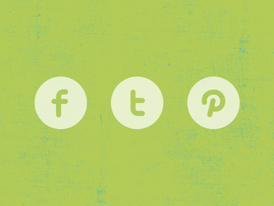 Facebook Twitter Pinterest icon Layered PSD shape