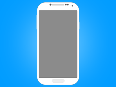 Flat Android Mockup PSD-Galaxy S4 illustration