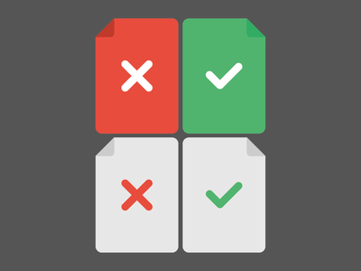 Flat Documents Icons Vector