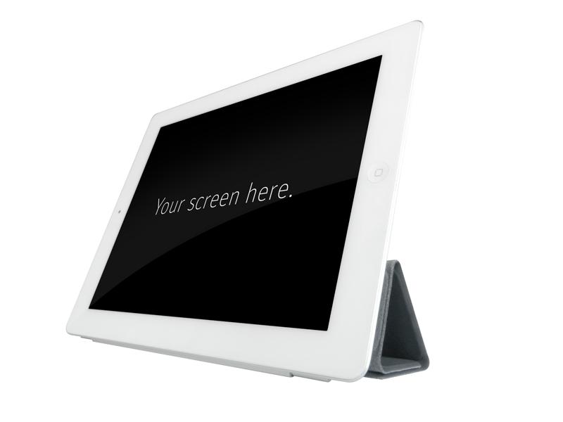Free Clean White iPad Mockup PSD