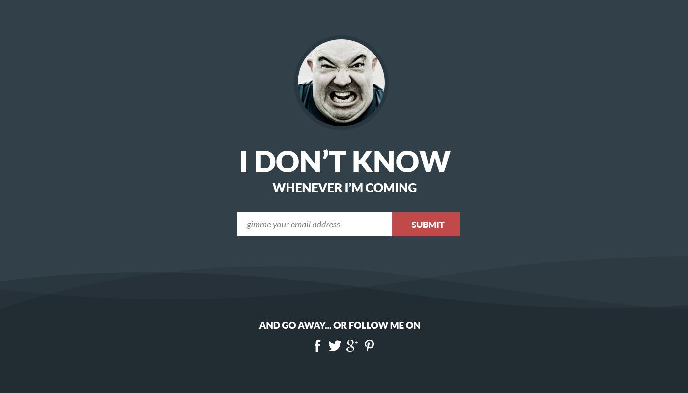 Free Flat Coming Soon WebPage PSD