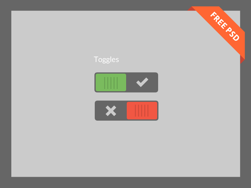 Free Layered Toggle Switch PSD