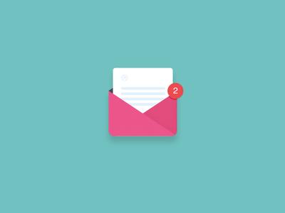 Free Mail Icon invite PSD