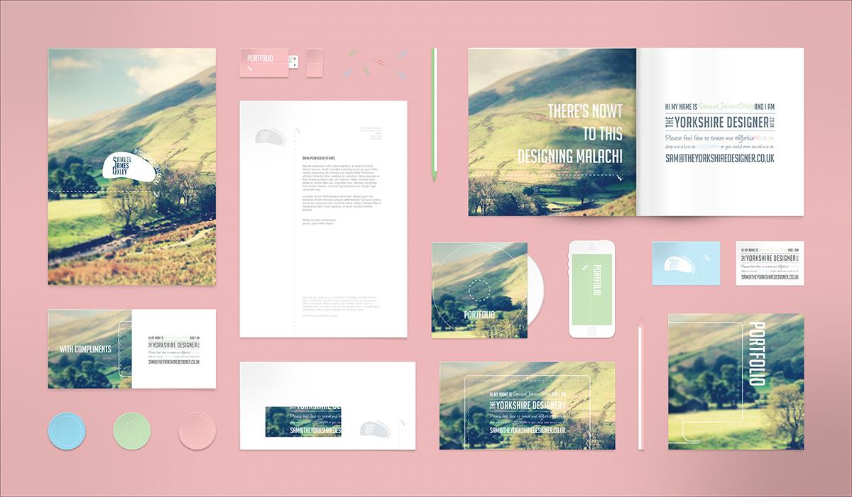 Free Mockup Brochure Business Card Letterhead PSD