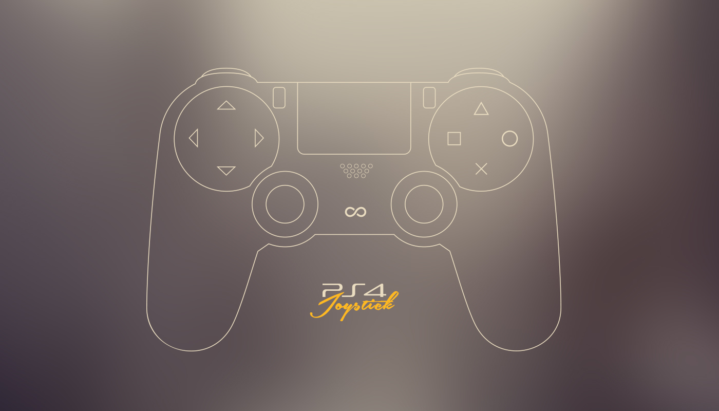 Free PS4 game joystick vector(ai)