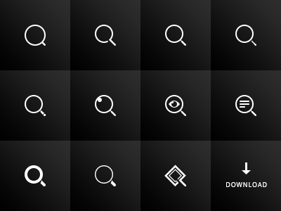 Free Search Icons PSD