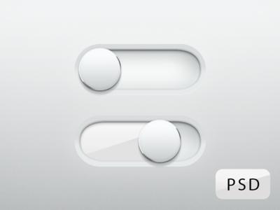 Free Shiny Glossy Switches PSD