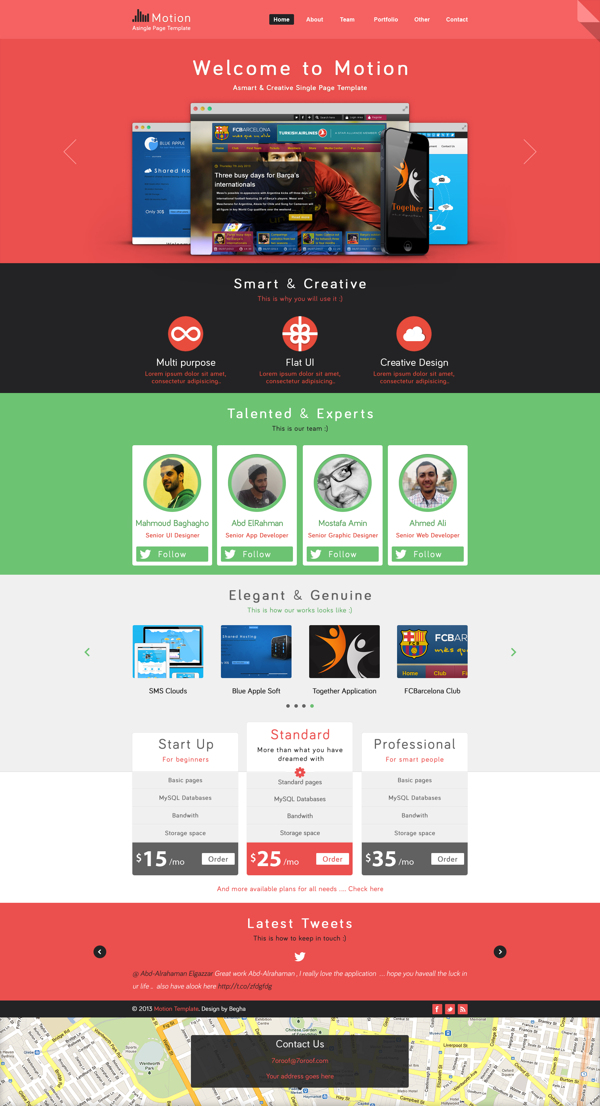 Free Single Page PSD Web Template-preview