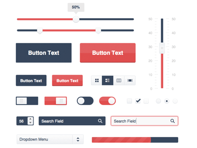 Free UI Kit Web Elements(.sketch)
