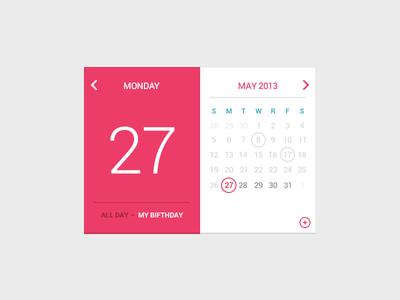 Freebie-Birthday Calendar PSD