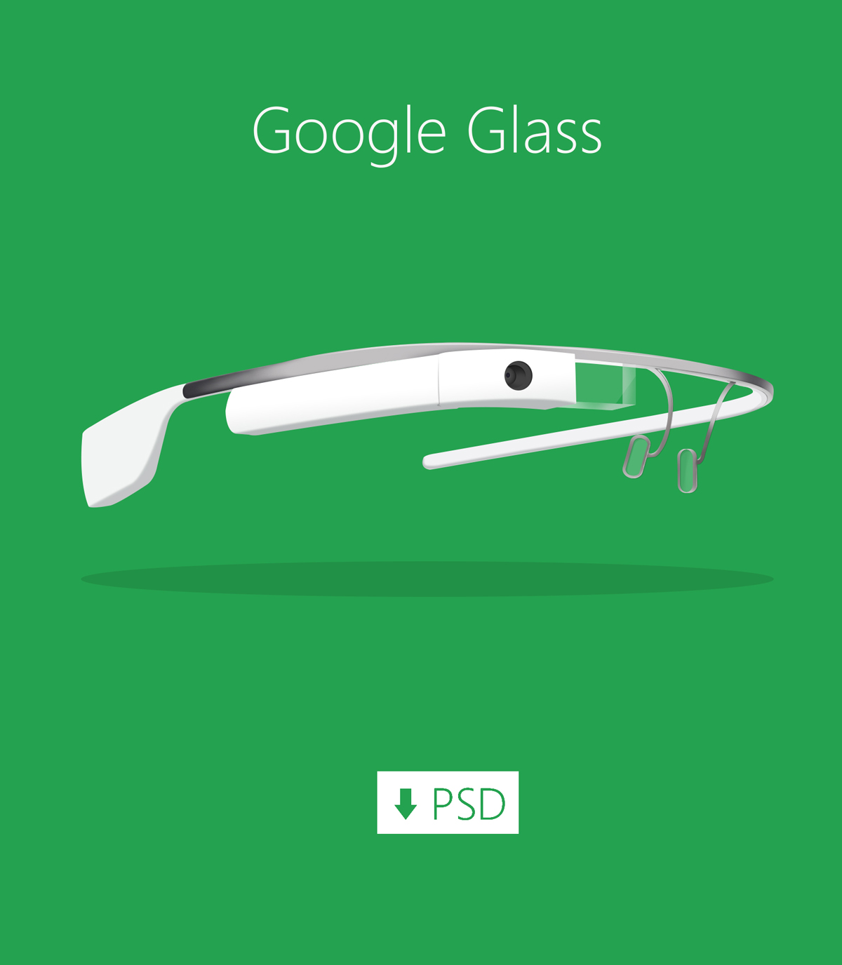 Freebie-Cool Google Glass PSD