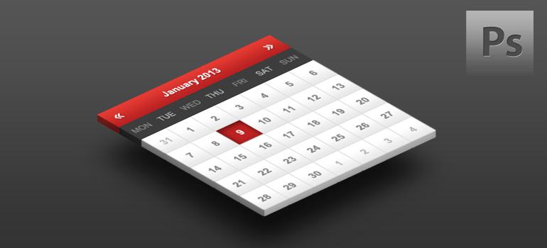 Freebie-Layered Calendar PSD