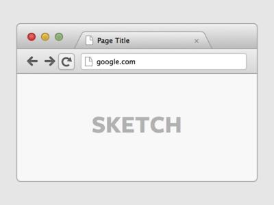 Google Chrome Browser UI (Sketch)