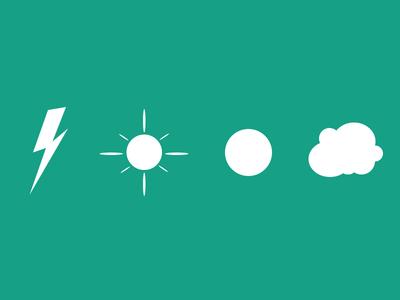 Lightning,sun,cloud,Free weather icons psd