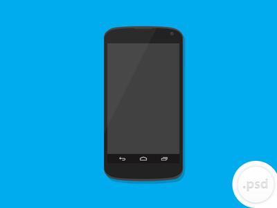 Mobile Phone-Nexus Vector Mockup PSD