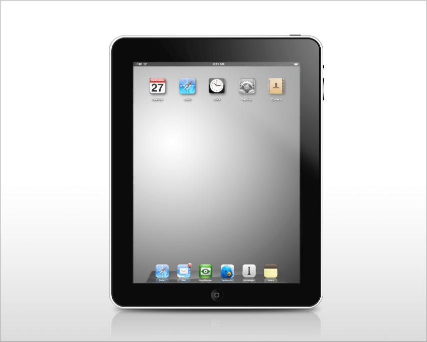 PSD Ipad Template For Display
