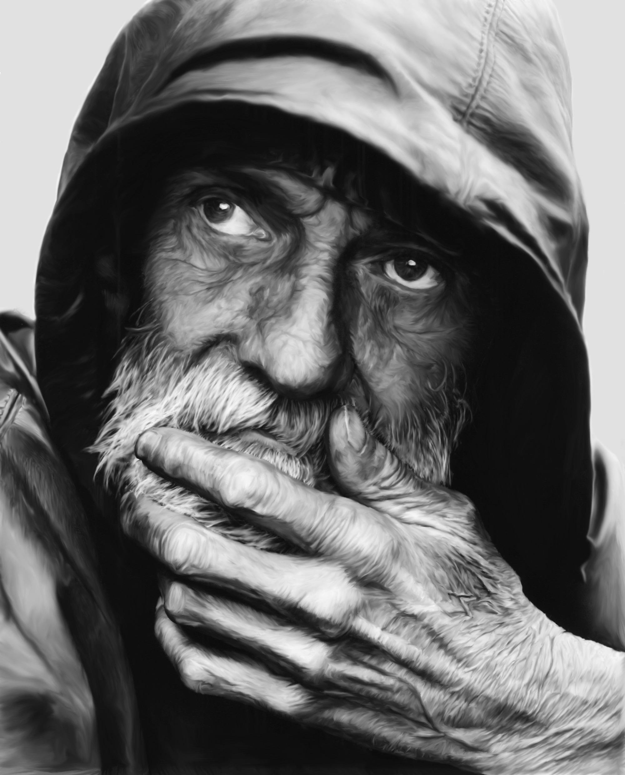 Portrait sketch-man