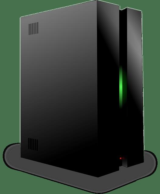 Computer linux server icon vector