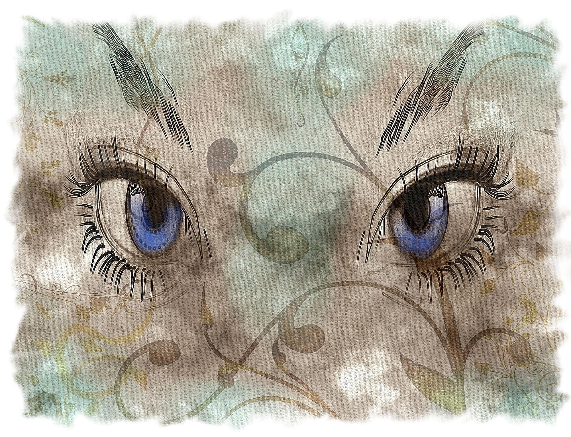 girl's eye-eyelash
